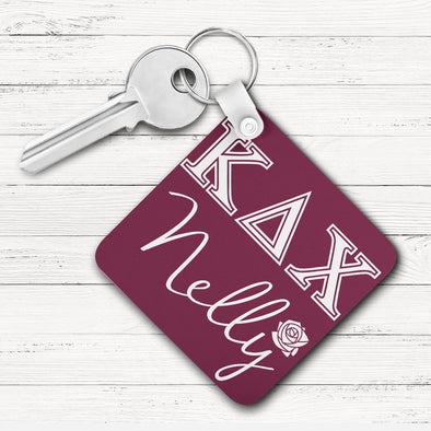 Kappa Delta Chi Square Key Chain