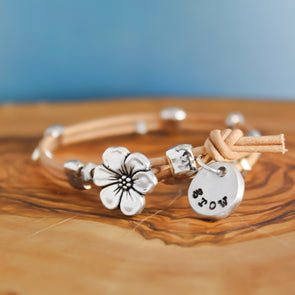 Leather Bloom Bracelet