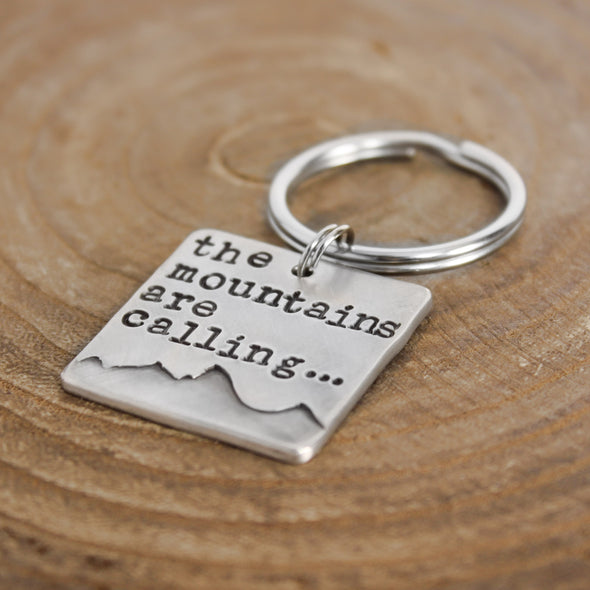 Mountains Are Calling Key Chain