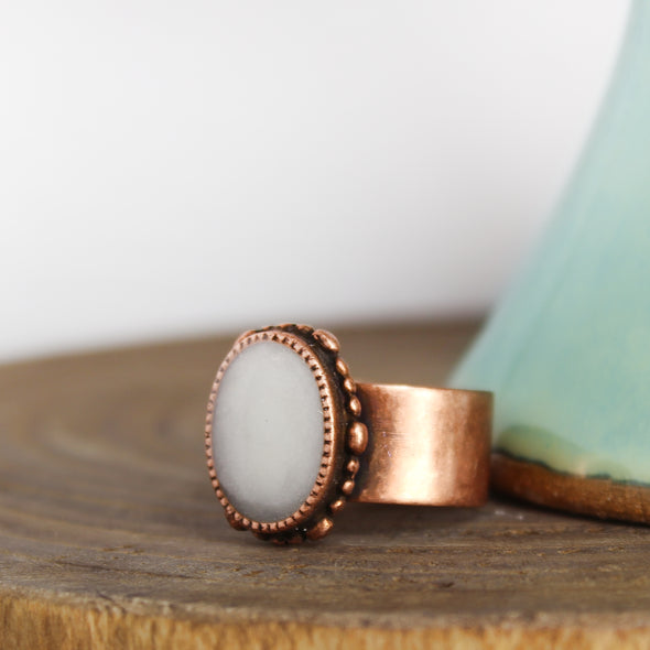 Ornate Copper Selenite Ring