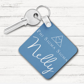 Phi Sigma Sigma Square Key Chain