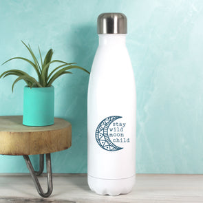 Moon Child Water Bottle - Dark Blue