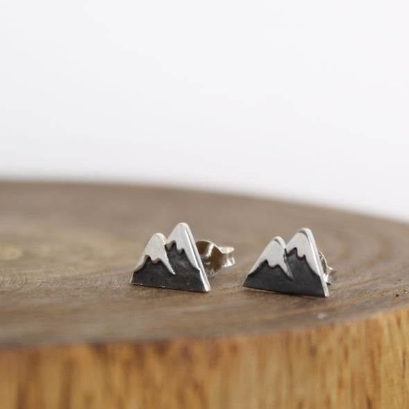 Sterling Silver Mountain Earrings