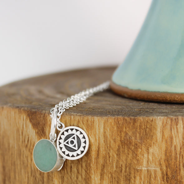 Turquoise Throat Chakra Necklace