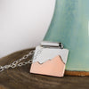 Sterling Silver & Copper Mountain Necklace