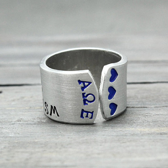 Alpha Omega Epsilon Motto Ring - Pure Impressions Design - 3