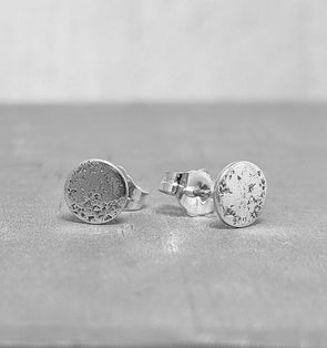 Silver Moon Earrings - Sterling Silver Studs - Tiny Moon Studs
