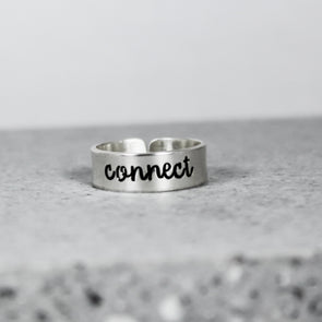 Word of the Year Ring - New Year Resolution - Sterling Silver Ring - Motivational Jewelry