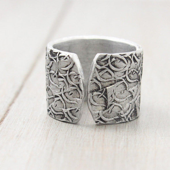 Chi Omega Floral Texture Ring - Pure Impressions Design - 3