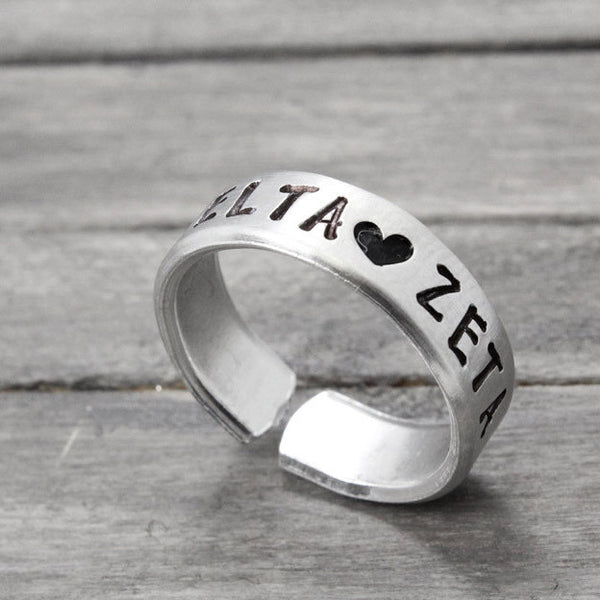 Delta Zeta Love Ring - Pure Impressions Design - 1