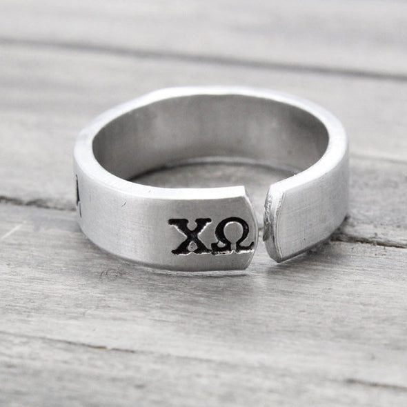 Chi Omega Love Ring - Pure Impressions Design - 3