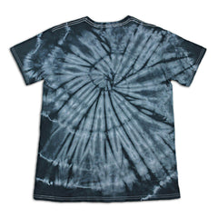 black tiedye tshirt back view