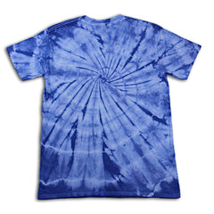 blue tiedye tishirt backview