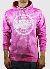 pink tiedye hoodie on the body
