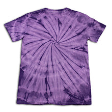 purple tiedye tshirt back view