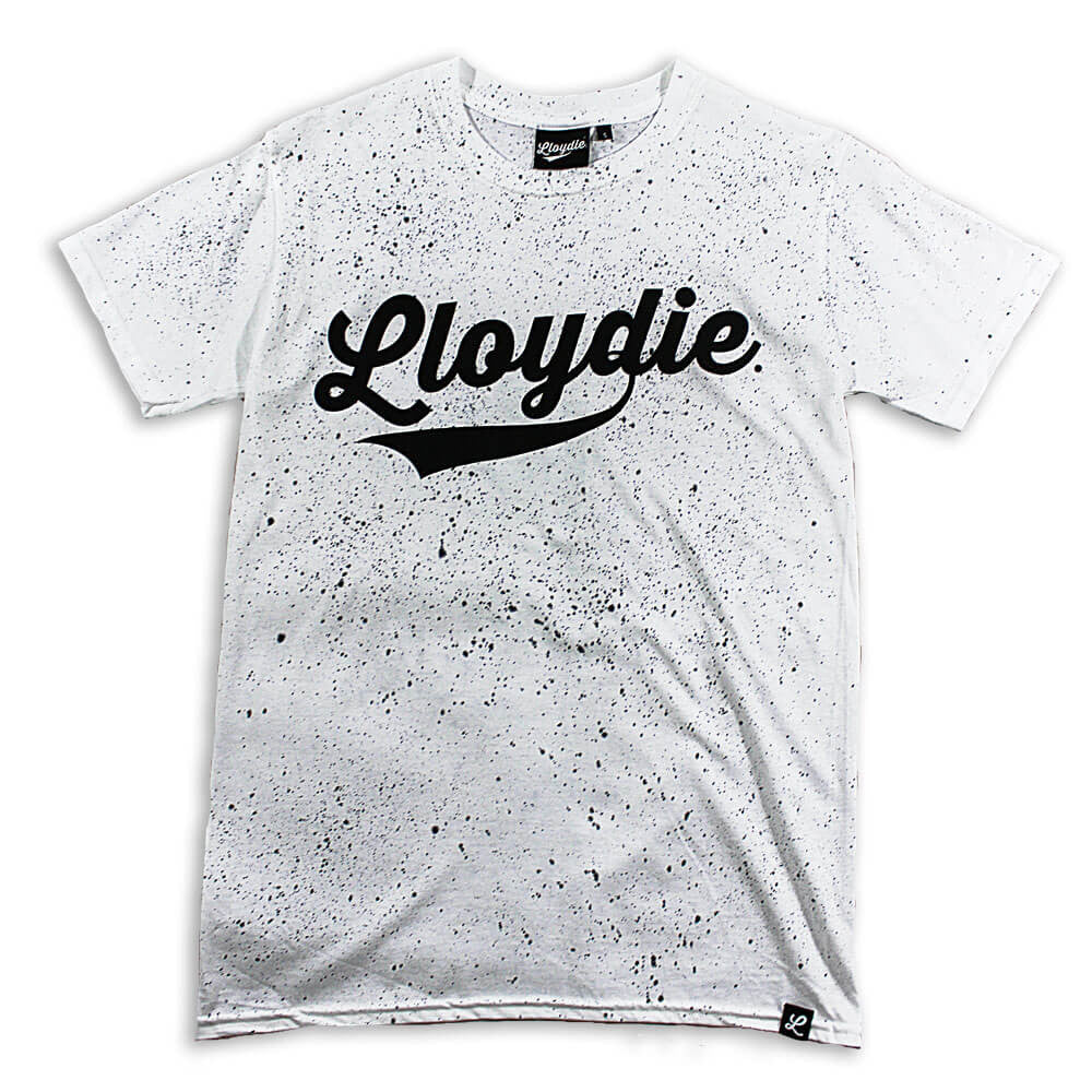 white speckled tshirt