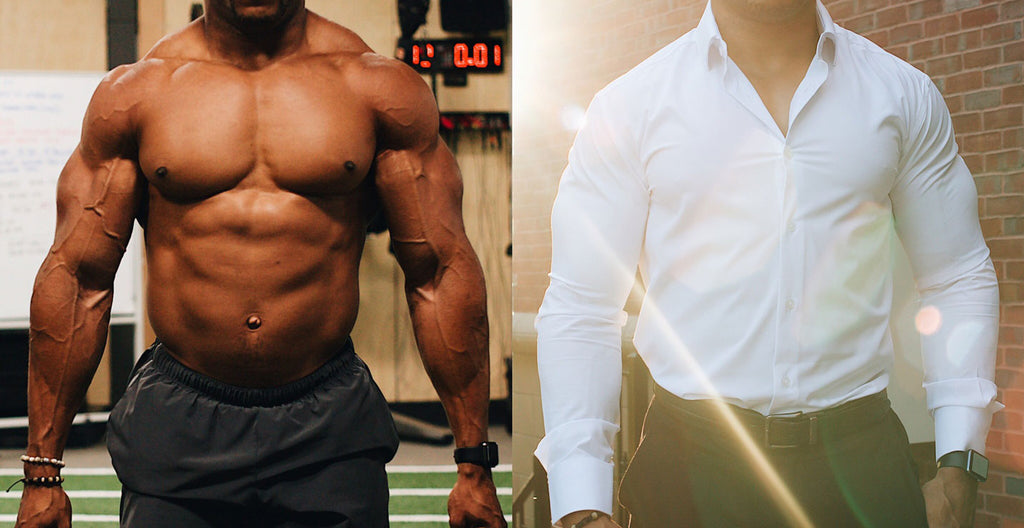 A Dress Shirt for BodyBuilders - State and Liberty Clothing