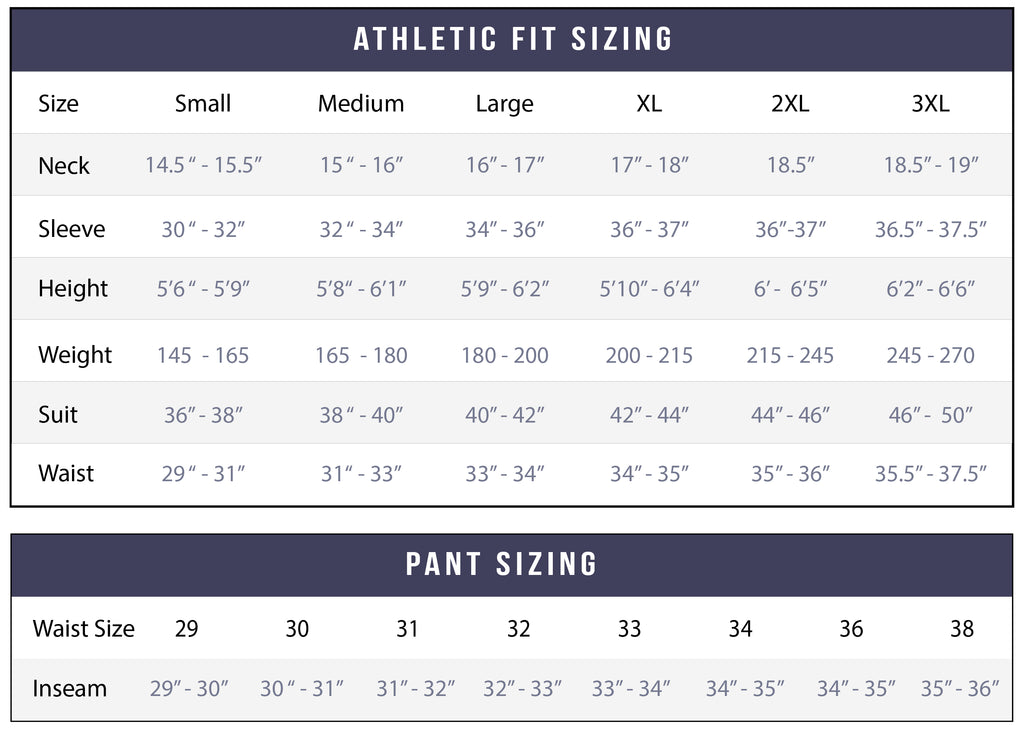 Size Chart - State and Liberty Clothing Company