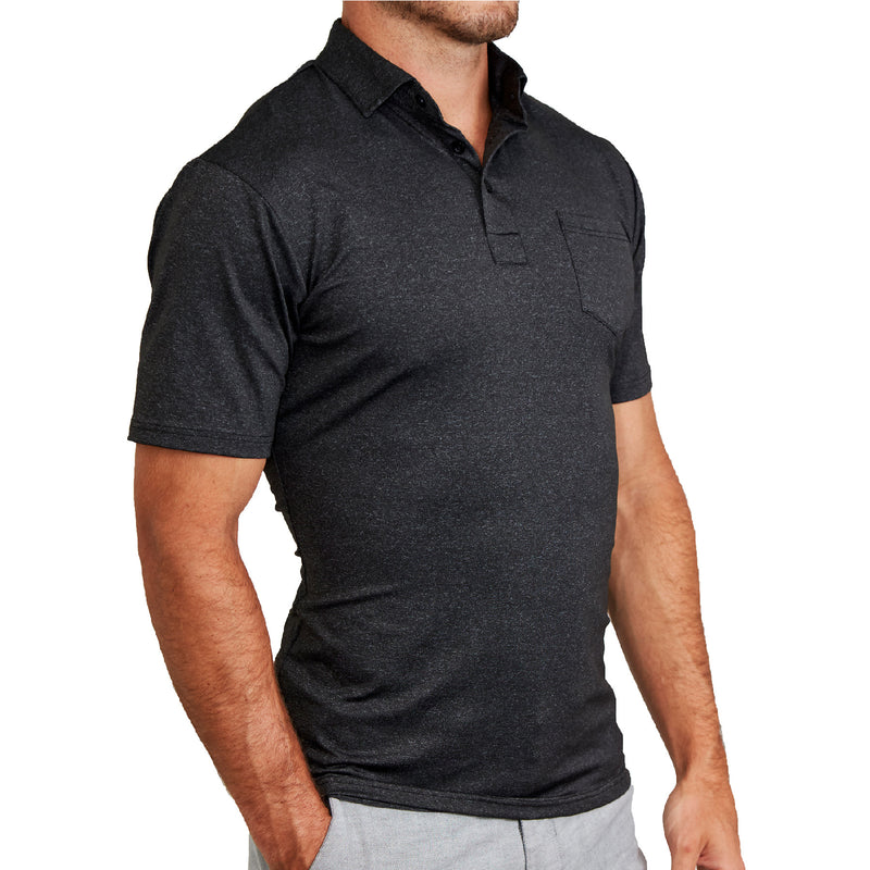 """The Bane"" Black Tech Polo"
