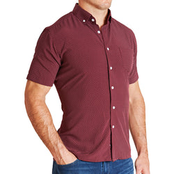 """The Barry"" Maroon with White Dots"