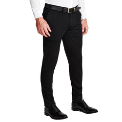 Athletic Fit Stretch Suit Pants - Black