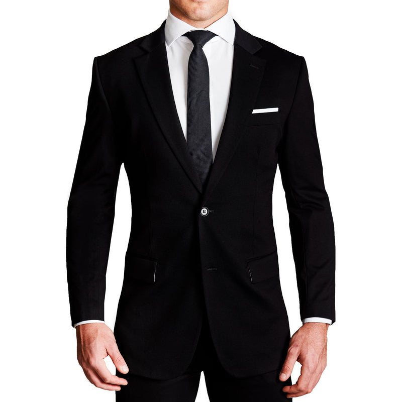 Athletic Fit Stretch Blazer - Black (Ships In 8 Weeks)