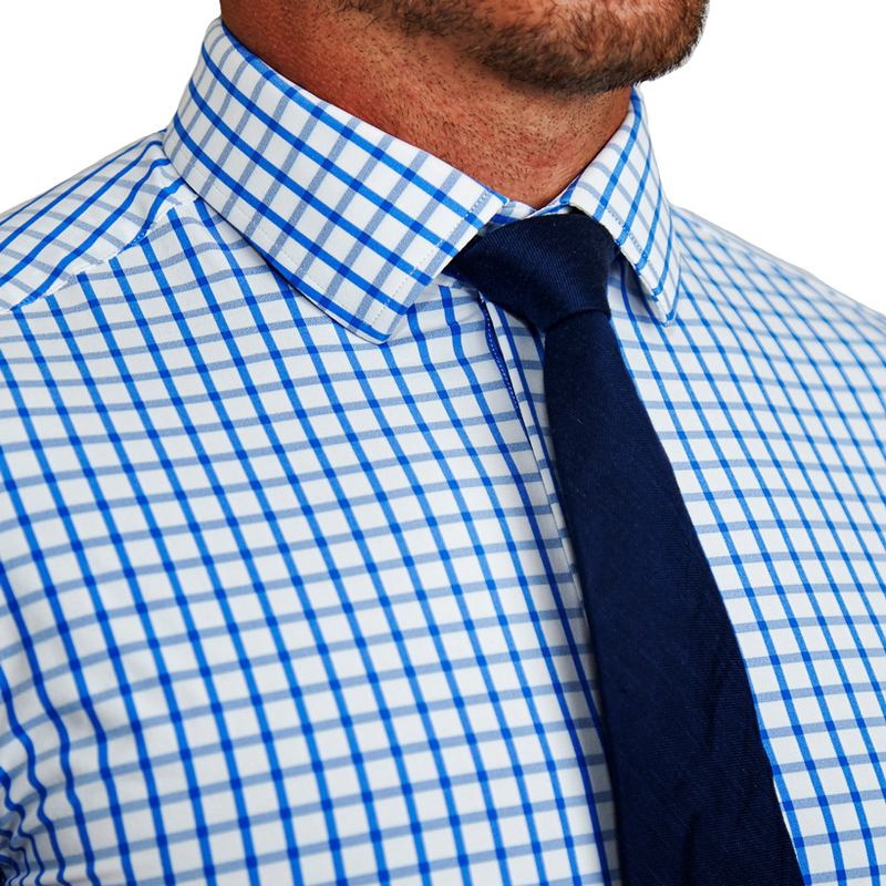 """The Burke"" Big Blue Windowpane"