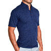 """The Calvin"" Heathered Navy Polo"