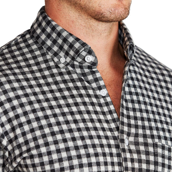 """The Floyd"" Black Check Casual Button Down"