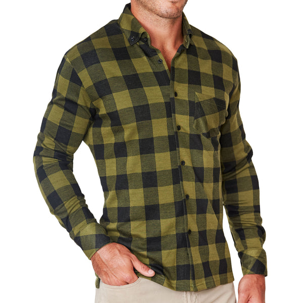 """The Huntley"" Army Green Casual Button Down"