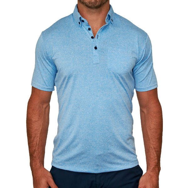 """The Murphy"" Baby Blue Tech Polo"