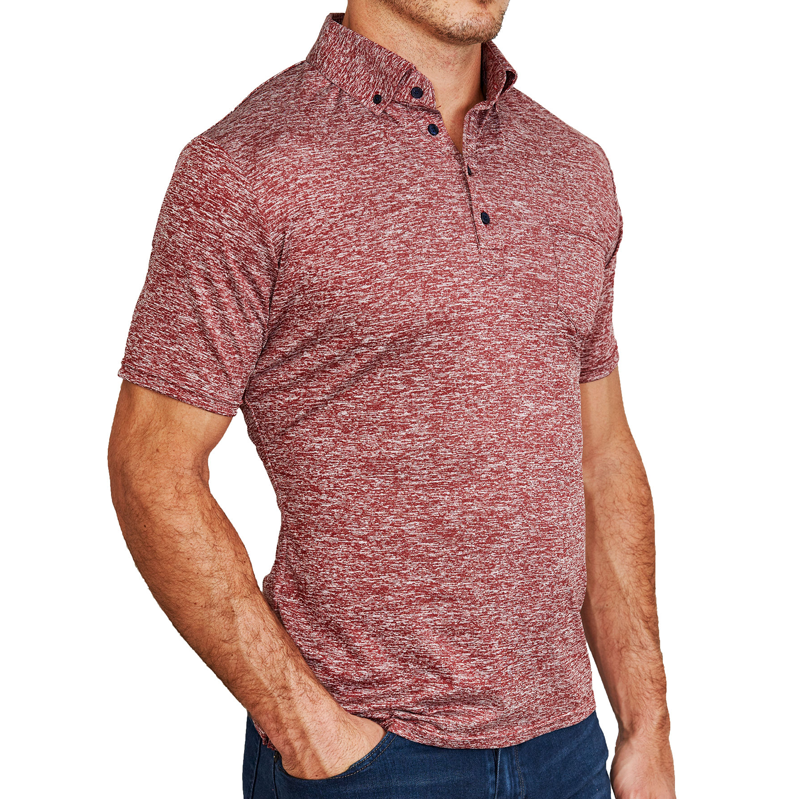 """The Mac"" Maroon Tech Polo"