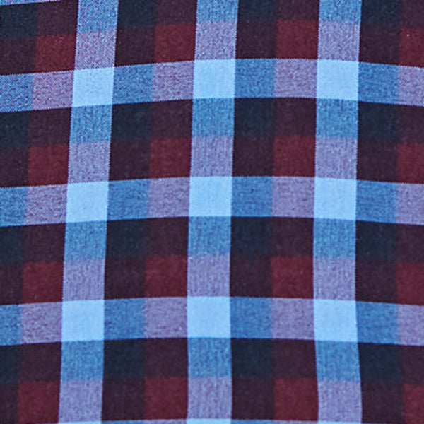 """The MacArthur"" Maroon, Black, and Blue Triple Check"