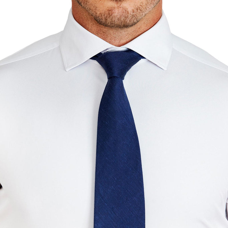 """The Springer"" Solid White - Spread Collar"
