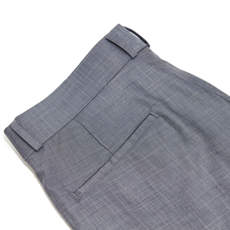 Athletic Fit Stretch Suit Pants - Solid Grey