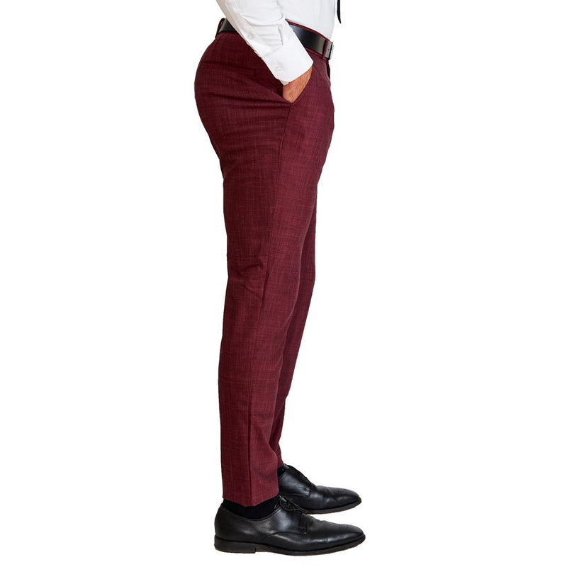 Athletic Fit Stretch Suit - Heathered Maroon (Ships In 5 Weeks)