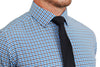 """The Patton"" Blue, Black and White Gingham"
