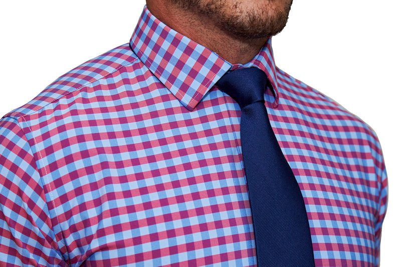 """The Langford"" Red and Blue Big Gingham"