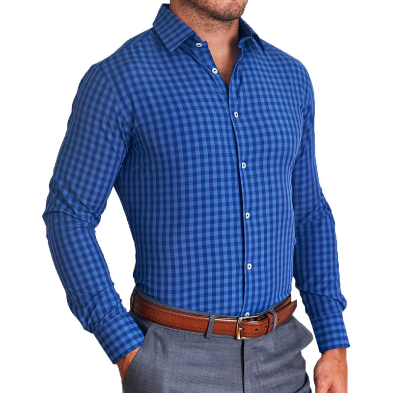 """The Townsend"" Light and Dark Blue Gingham"