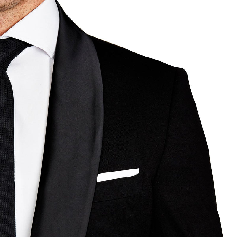 Athletic Fit Stretch Tuxedo - Black with Shawl Lapel (Ships in 4 Weeks)