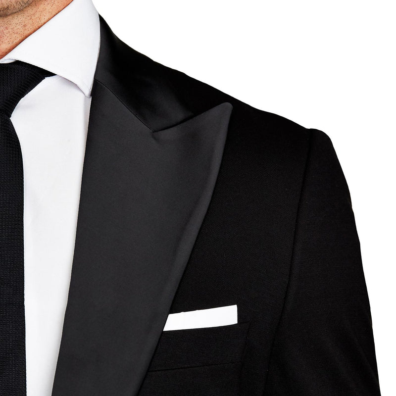 Athletic Fit Stretch Tuxedo - Black with Peak Lapel (Ships in 4 Weeks)