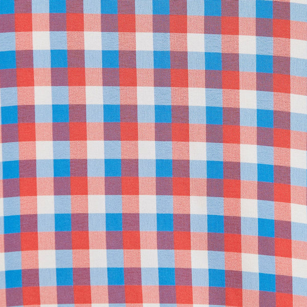"""The Yost"" Pink and Baby Blue Triple Check"