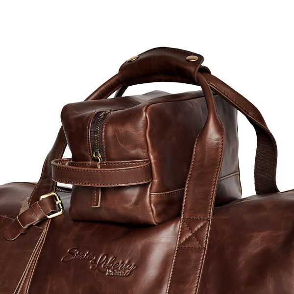 The Essential Dopp Kit - Brown Leather