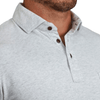"""The Benson"" White Heathered Polo"