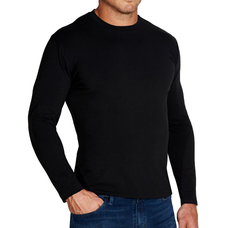 """The Riley"" Black Long Sleeve Crewneck"