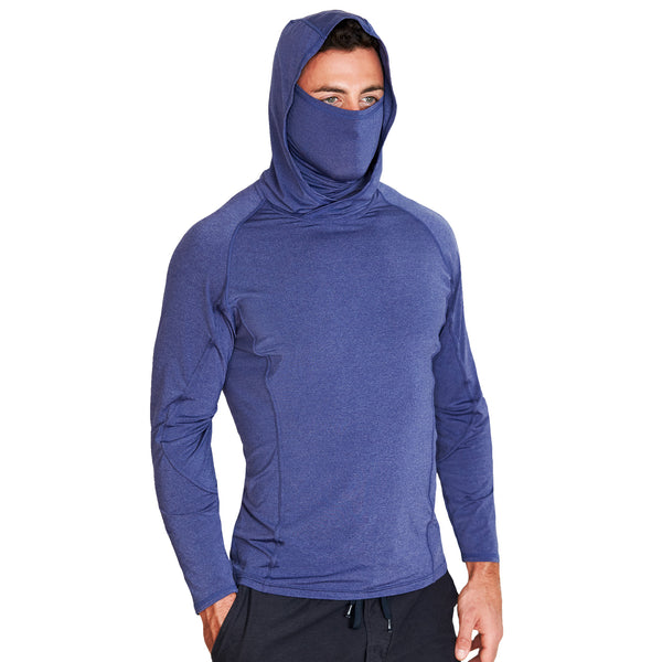 Cobalt Blue Tech Hoodie with Mask