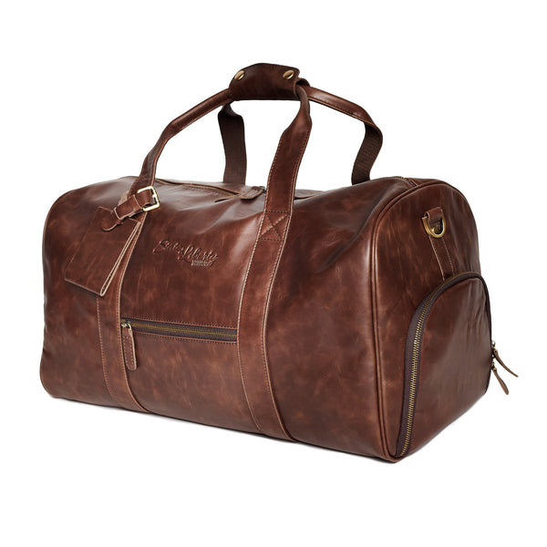 The Essential Duffel Bag - Brown Leather