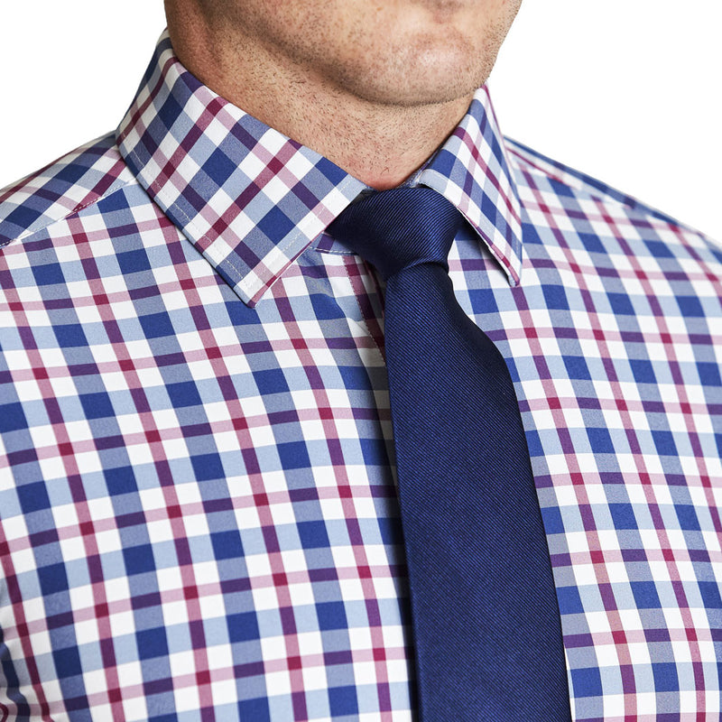 """The Collins"" Blue, Red, and White Plaid"