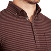 """The Cooper"" Brown and Grey Stripes Long Sleeve Polo"