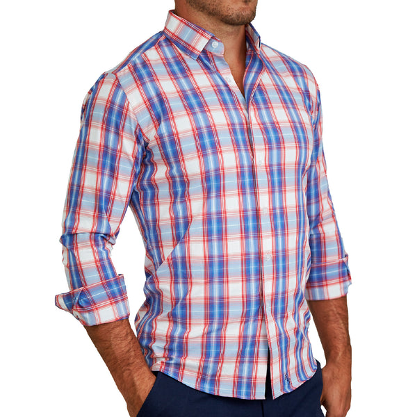 """The Cutler"" Red, White and Blue Plaid"